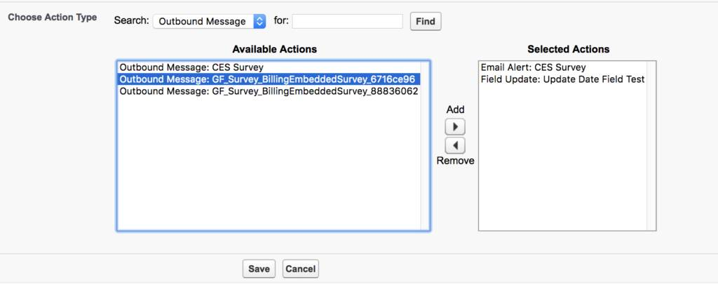 automated email survey salesforce workflow outbound message