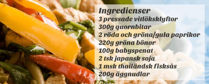Recept på vegetarisk wok – på under 400 kalorier
