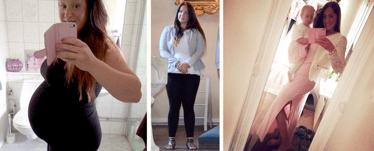 Så gick hon bort övervikten efter sin graviditet