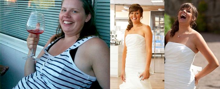 Gick ner i vikt lagom till sitt bröllop