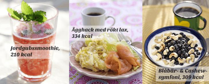 Recept på tre lätta frukostar – på under 350 kalorier