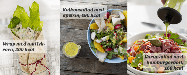 Recept på tre lätta luncher – under 200 kalorier