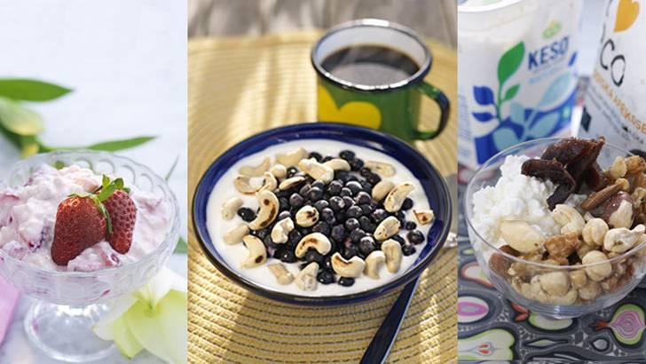 Recept på tre fräscha mellanmål – på under 500 kalorier