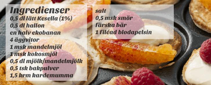 Recept på bananplättar – på under 250 kalorier