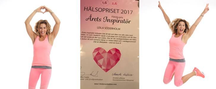 Grattis Leila Söderholm årets inspiratör 2017