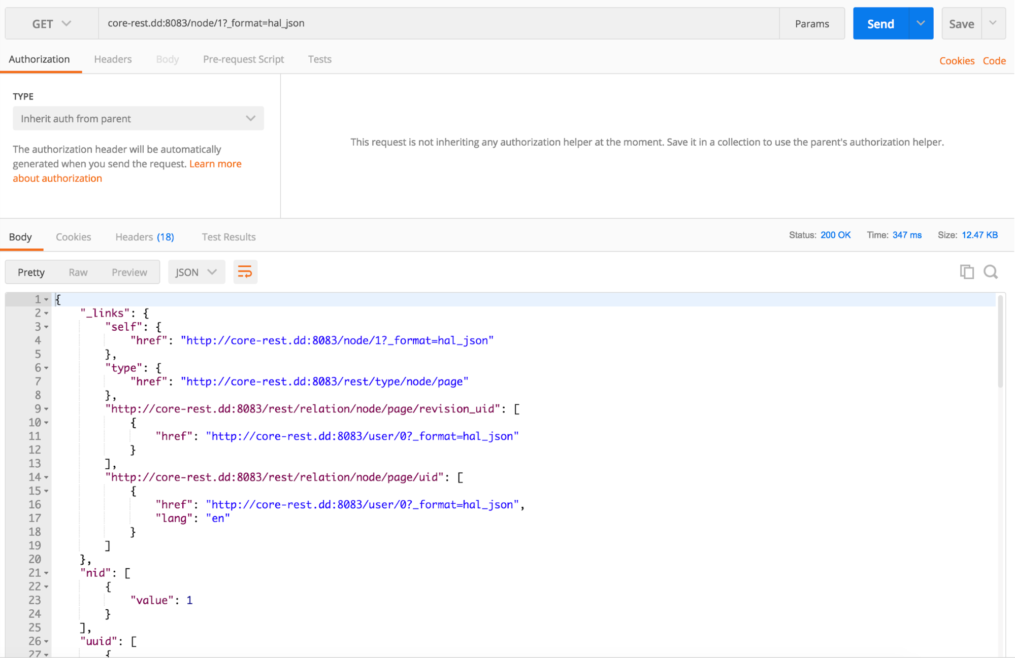Issuing a GET request with Postman