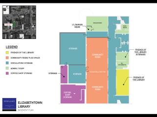 Elizabethtown Library Lower Level Plan