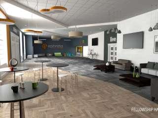 ECOB Interior Fellowship Hall Rendering
