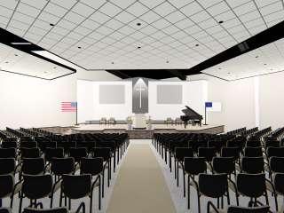 Mt. Zion Baptist Sanctuary Rendering