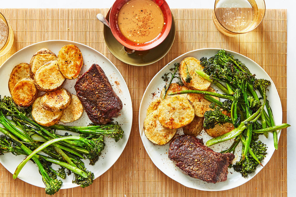 Seared Steak & Crispy Potatoes with Japanese Special Sauce