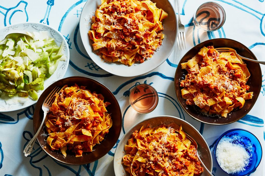 Turkey Bolognese with Pappardelle