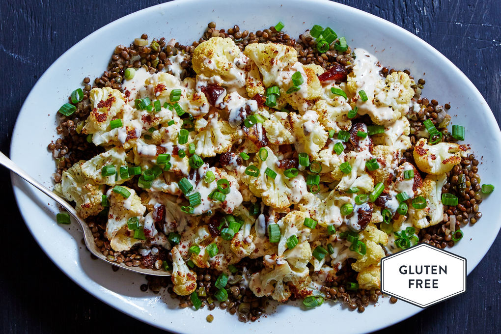 Roasted Cauliflower & Lentils with Tahini and Sumac