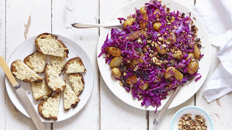 roasted potato and cabbage salad