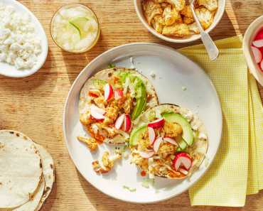 cauliflower tacos with pickled radishes