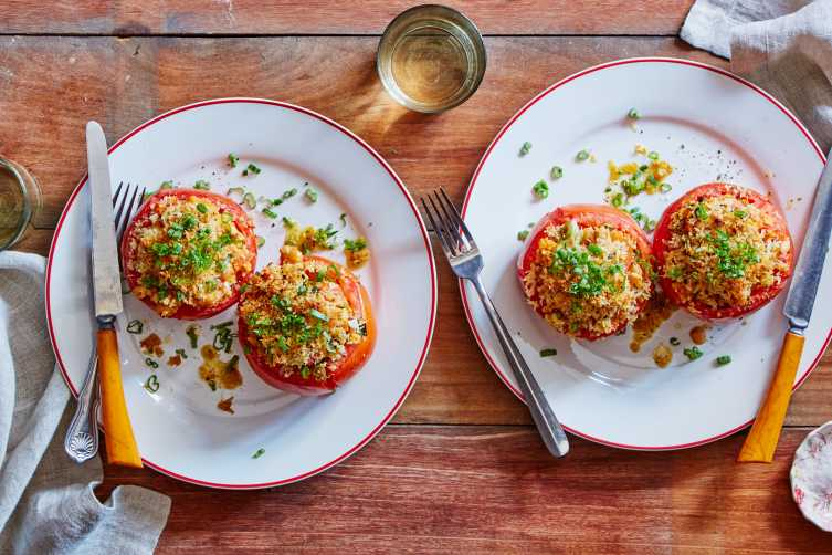 White Bean Stuffed Tomatoes