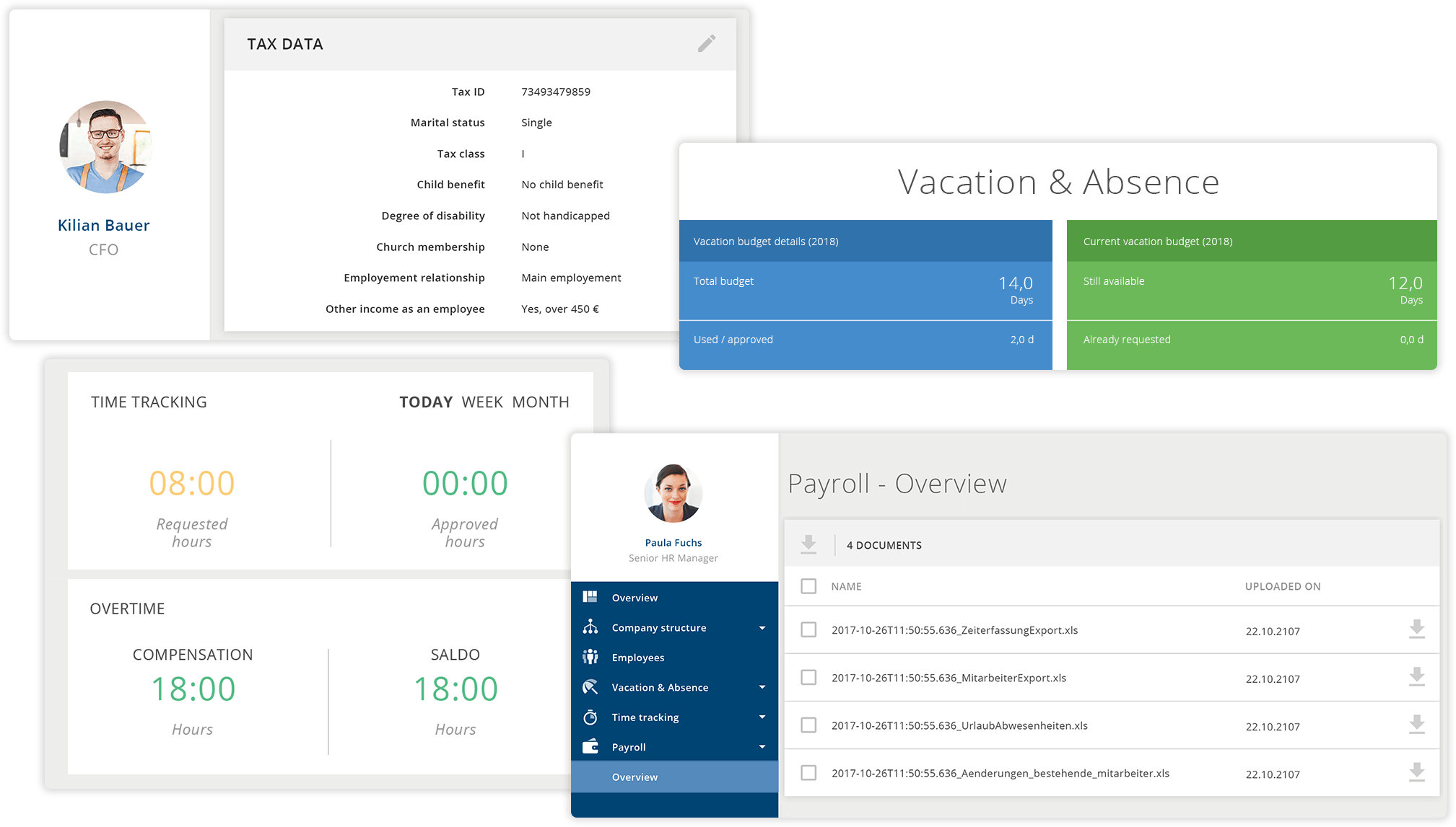 The payroll feature is fully automatic and can be adapted to your needs.