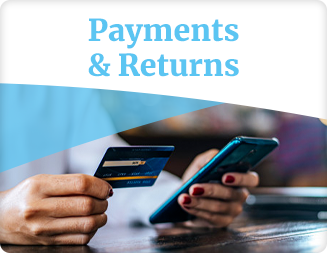 Payment Types, Refund Ground Rules, Return Policies, Cancellations - with bot prompt