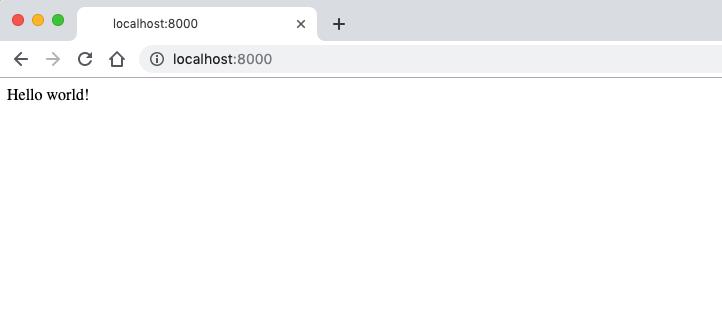 first localhost website