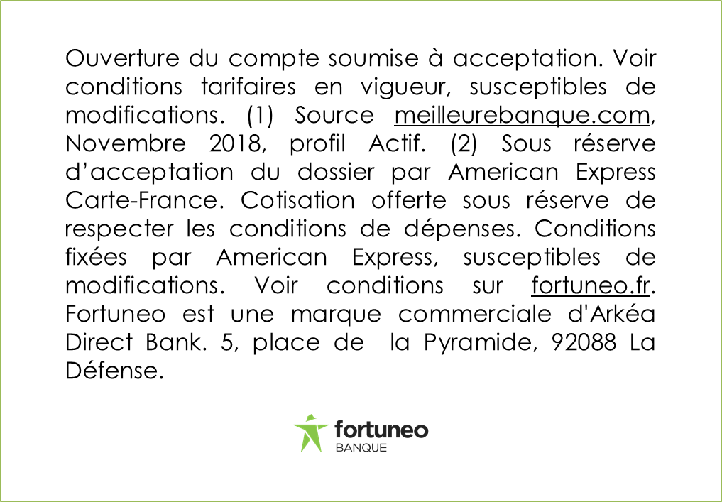 Nouvelle mention Amex