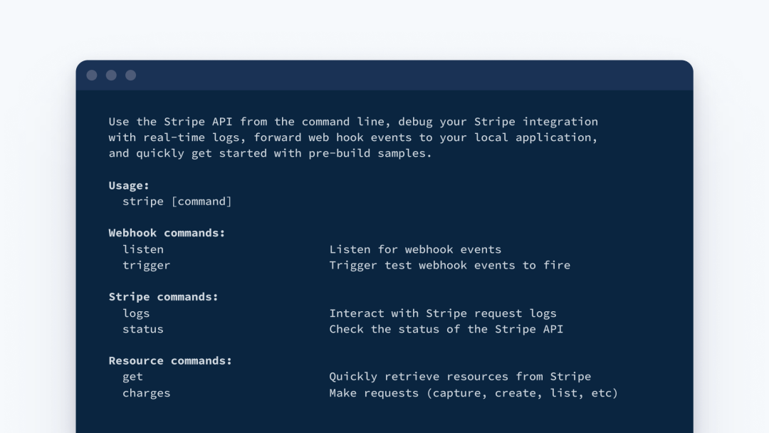 Stripe CLI index