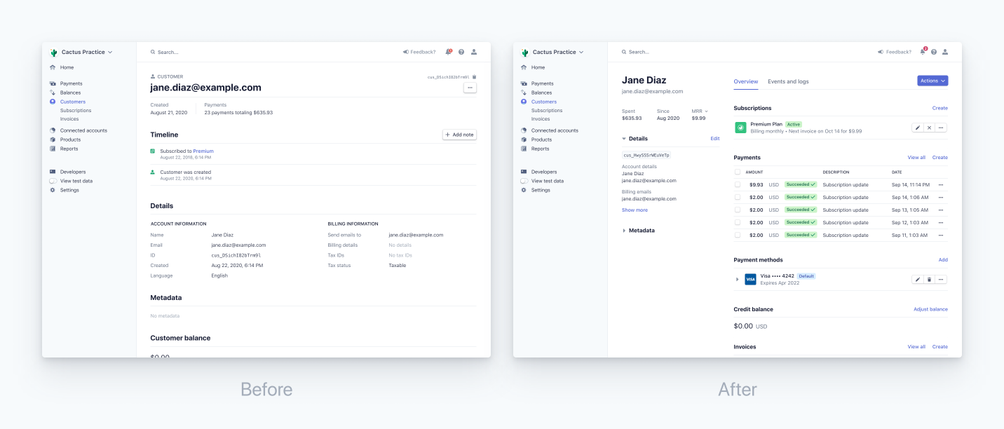 dashboard-customer-pages