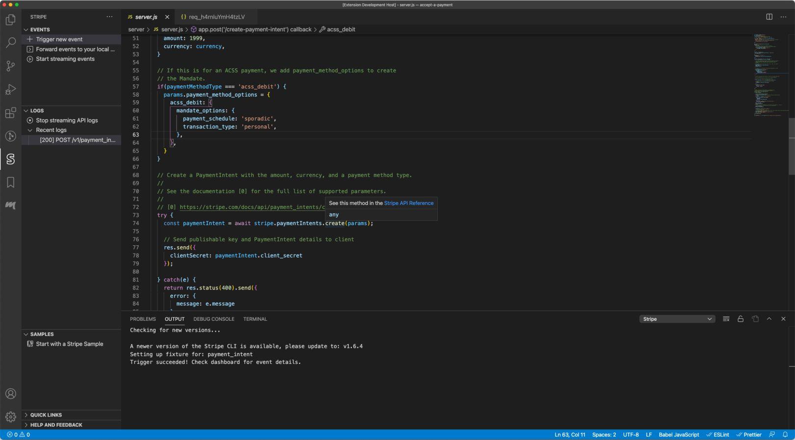 VS Code > API image