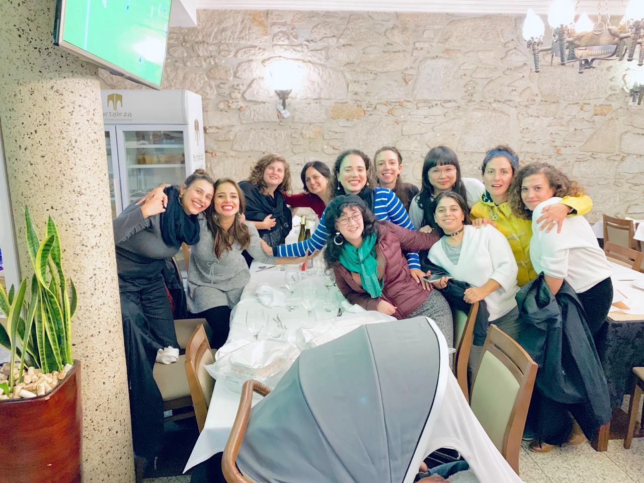 Isabella, Shalini, Wafaa and the rest of Meedan's female team at a company retreat in Porto, Oct. 2019