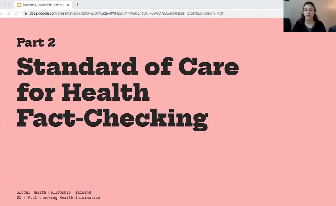 Public health tools for fact-checking health information
