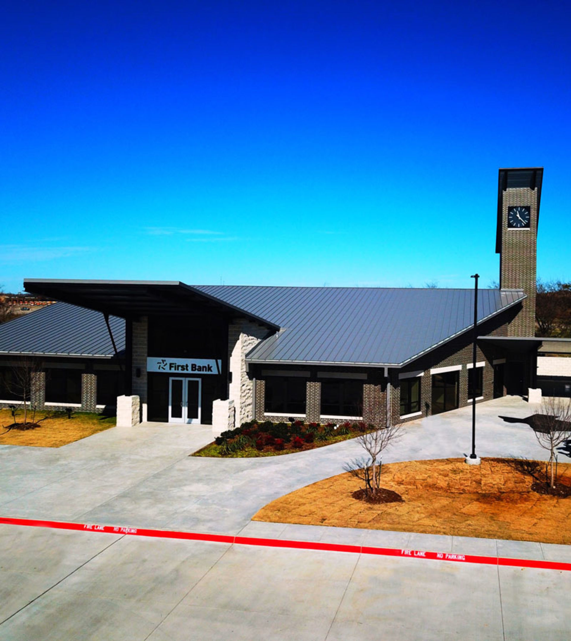 An image of the exterior of our Aledo branch.