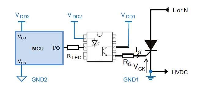 意法半导体可控硅浪涌抑制电路