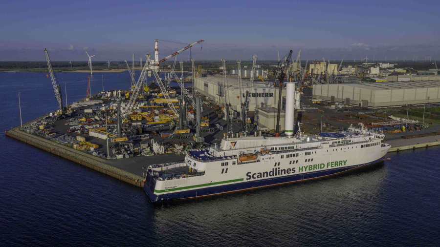Latest Norsepower Rotor Sail installation completed on Scandlines ferry in just hours.