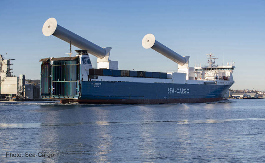 SEA-CARGO's tilting Rotor Sails deliver instant operational results