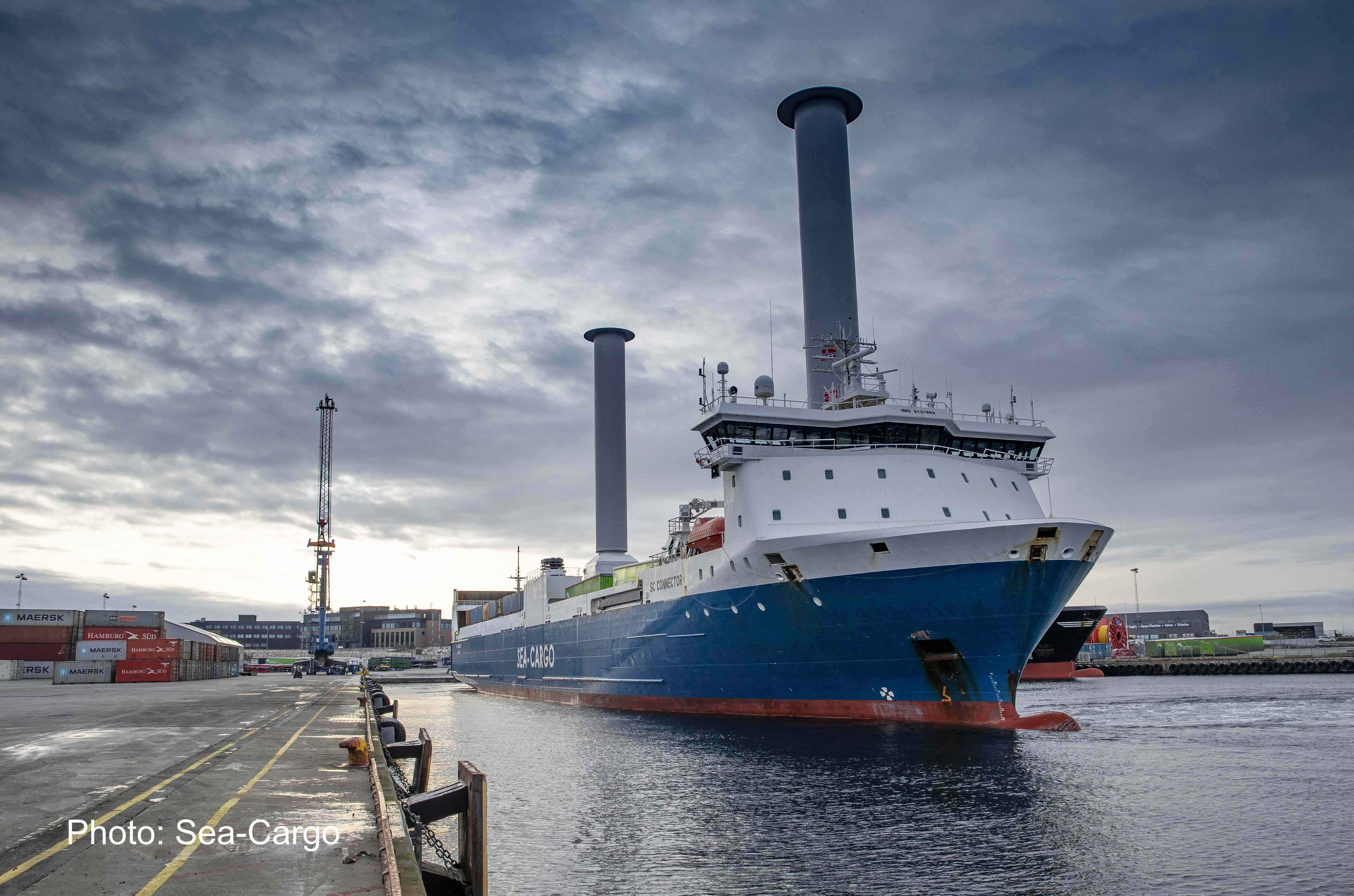 SC Connector RoRo with world's largest Rotor Sails