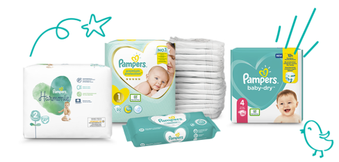 Couches et lingettes bambins Pampers®