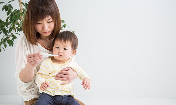 Enfant avec fièvre