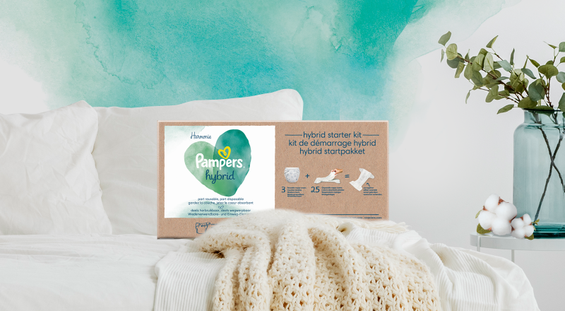 Couches Pampers® Harmonie™ Hybrid