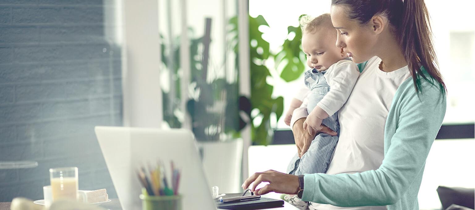 Télétravail viable pour jeunes parents