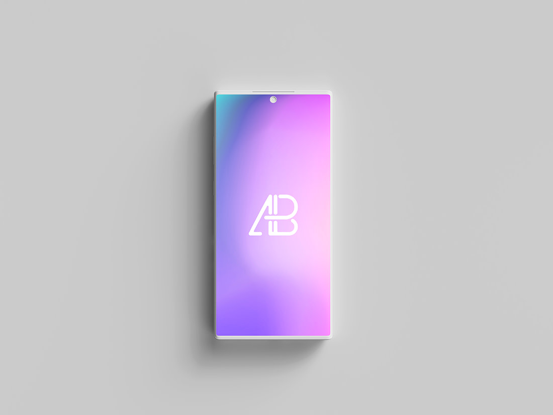 Clay Samsung Galaxy Note 10 Pro Top View Mockup by Anthony Boyd Graphics