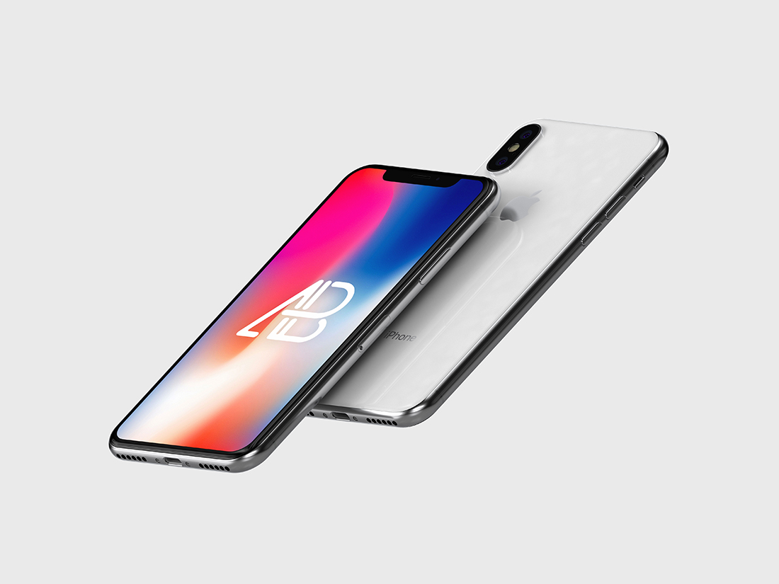 Floating iPhone X Mockup Vol 3 by Anthony Boyd Graphics