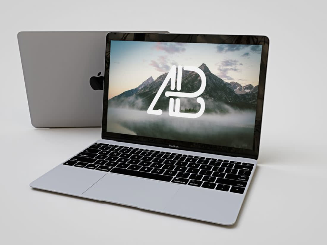 Realistic Apple Macbook Mockup by Anthony Boyd Graphics