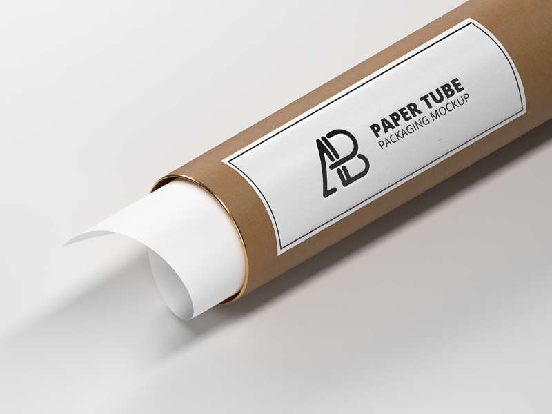 Paper Tube Packaging Mockup by Anthony Boyd Graphics