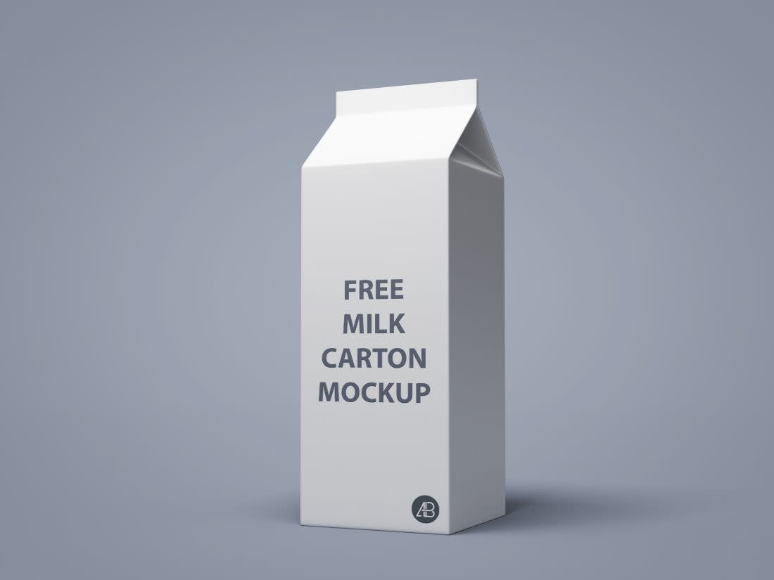 Milk Carton Mockup by Anthony Boyd Graphics