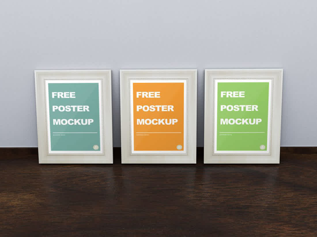 Free Realistic Poster Frame Mockup by Anthony Boyd Graphics