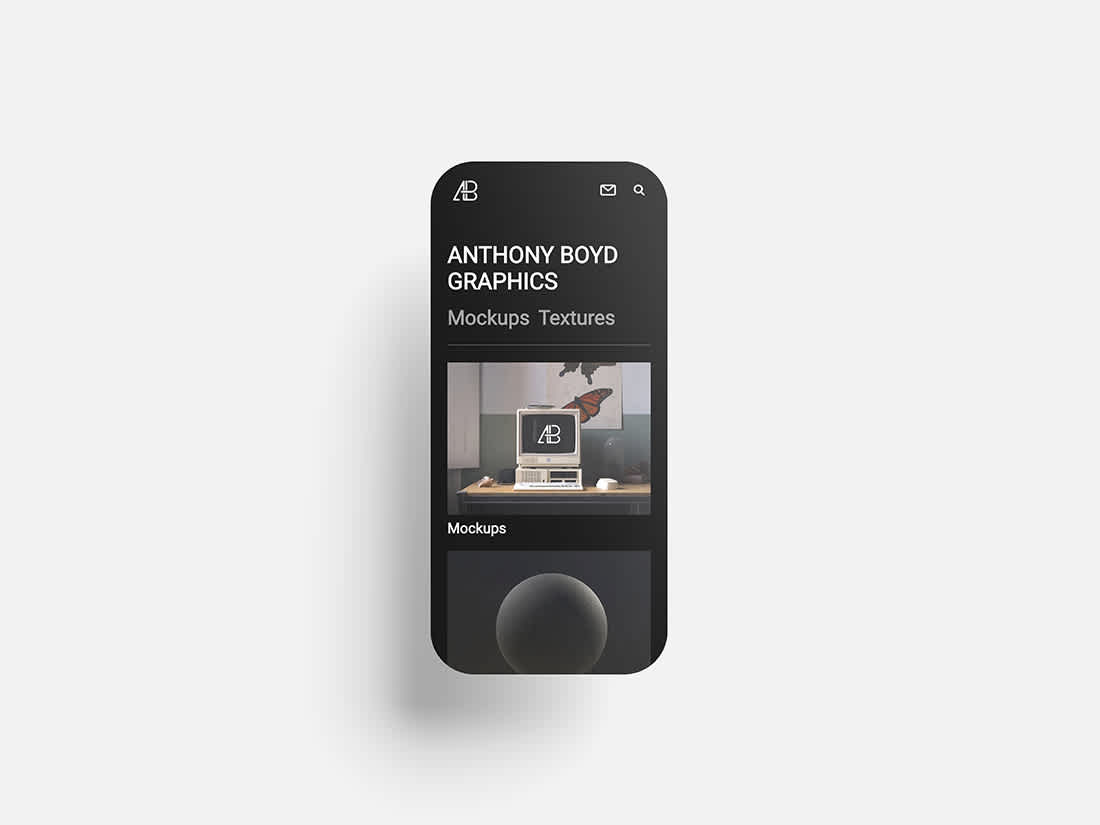 Rounded Smartphone Screen Set by Anthony Boyd Graphics