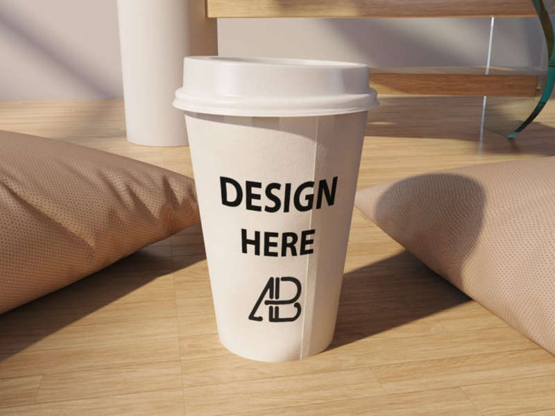Realistic Coffee Cup Mockup by Anthony Boyd Graphics