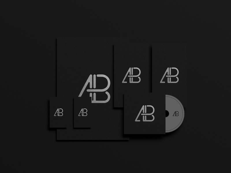 Black Foil Branding Identity Mockup by Anthony Boyd Graphics
