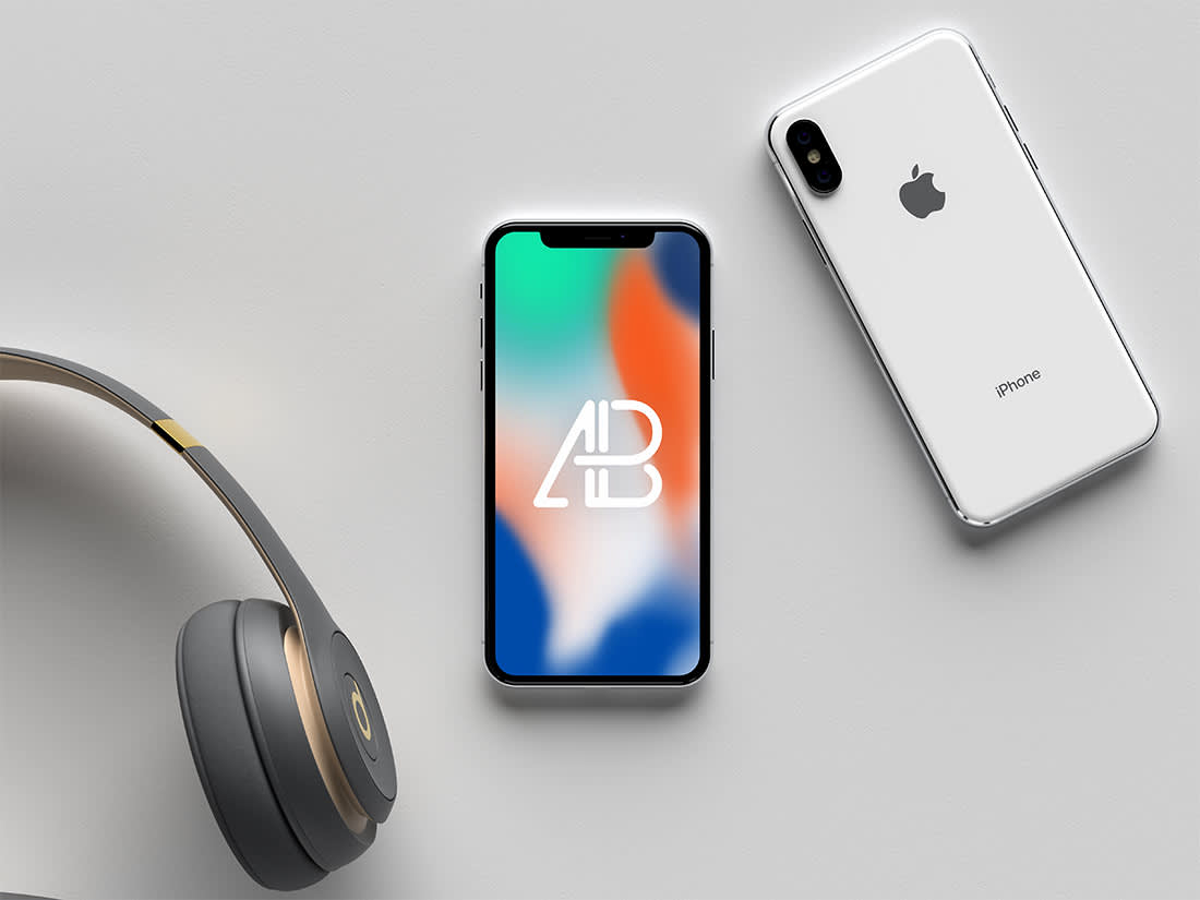 Modern iPhone X Mockup Vol.2 by Anthony Boyd Graphics