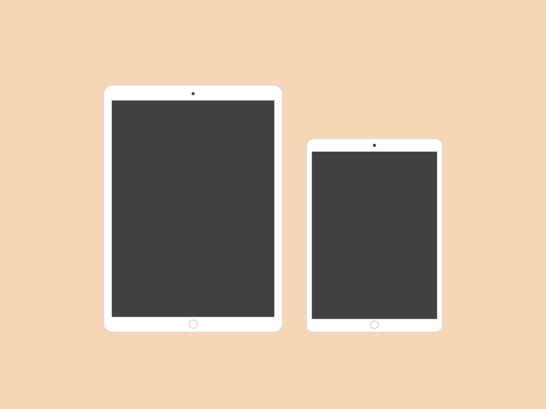 Flat 2D Apple Devices Mockup Pack by Anthony Boyd Graphics
