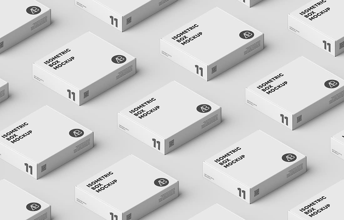 Box Grid Mockup by Anthony Boyd Graphics