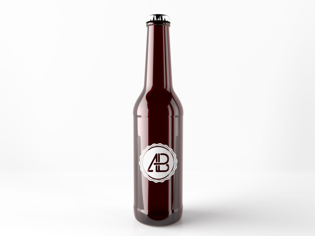 Realistic Beer Bottle Mockup by Anthony Boyd Graphics